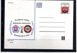 62-SLOVAKIA 1994-POSTAGE CARDS- NUMBER 001 -STATE ERB-prnting Soccer - Postal Stationery