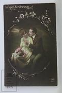 Old Real Photo Postcard - Romantic Couple - Circa 1910 - Parejas