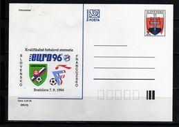 63-SLOVAKIA 1994-POSTAGE CARDS- NUMBER 001 -STATE ERB-prnting Soccer - Postal Stationery