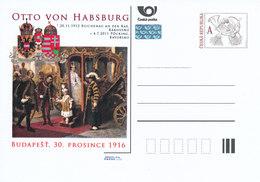 Tschech. Rep. / Ganzsachen (Pre2011/31) Otto Von Habsburg (1912-2011), Budapest - 30. Dezember 1916 - 1. Weltkrieg