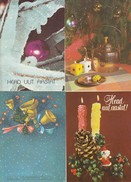 GOOD ESTONIA Four Postcards 1982/90 - Happy New Year - Estonia