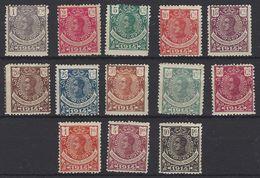 Guinea 098/110 */(*) Alfonso XIII. 1914. Charnela.  Y Sin Goma - Guinea Spagnola