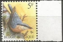 Belgium - 1988 Nuthatch  MNH **    Sc 1224 - Belgium