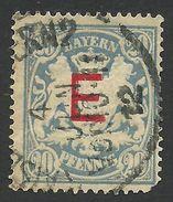 Bavaria, 20 Pf. 1908, Sc # O4, Mi # 4, Used. - Bavaria