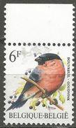 Belgium - 1988 Bullfinch  MNH **    Sc 1225 - Belgium