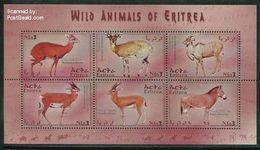 Eritrea 2001 Mammals 6v M/s, Madoqua Saltiana, (Mint NH), Nature - Animals (others & Mixed) - Eritrea