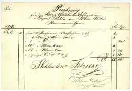 1848 Schweiz WOHLEN AG Wirtsrechnung Sternenwirthin Witwe VOCK Für Gantüberschläger Dubler - Suisse
