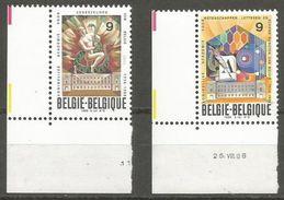 Belgium - 1988 Royal Academies Set Of 2  MNH **    Sc 1295-6 - Belgium