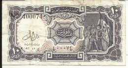 EGYPTE , 10 Piastres , N° World Paper Money : 177 C - Egipto