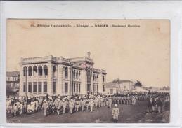 AFRIQUE OCCIDENTALE. SENEGAL, DAKAR. BOULEVARD MARITIME. FORTICE-TBE-BLEUP - Senegal
