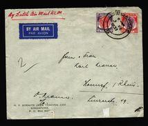 A5069) Malaysia Malaya Brief Von Singapore 3.2.1937 Nach Germany - Malayan Postal Union