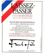 NANCY (54) BICENTENAIRE De La REVOLUTION FRANCAISE 1789-1989. PUBLICITE.MAGASIN De VETEMENTS. FRANCK Et FILS. - Publicités