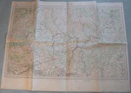 Carte Du S.G.A. : LONGWY / LUXEMBOURG / BASTOGNE / TREVES - 1 / 200 000ème - 1896 - Topographical Maps