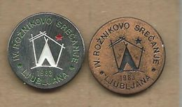 Scouting Scoutisme Boy Scout.Scout Association Of Yugoslavia.scout Review Ljubljana Slovenia.2 Pins - Associations