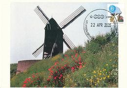 D32337 CARTE MAXIMUM CARD FD 2008 MOOI NEDERLAND - HEUSDEN MOLEN - DETAIL OP POSTZEGEL CP ORIGINAL - Netherlands