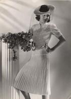 Anny Blatt Fashion Model Paris Old Vigneau Photo 1935 Mode Couture Tricot Modèle - Famous People