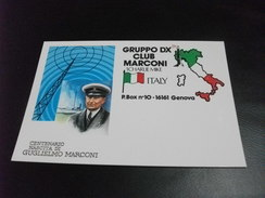 GUGLIELMO MARCONI CENTENARIO NASCITA  1 CHARLIE MIKE  ITALY QLS - Radio Amatoriale