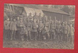 Carte Photo -  Soldats Allemands -  XVIII Reservekorps  --  8/4/1915 - Uniformes