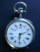 Superbe Montre Ancienne Argent Rehaussée D'Or Et Monogramme LC (fonctionne) - Watches: Old