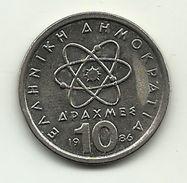 1986 - Grecia 10 Dracme, - Grecia