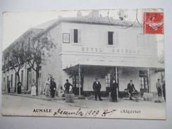 ALGERIE  -   AUMALE  -   HOTEL  GROSSAT          TRES  ANIME     TTB - Algeria