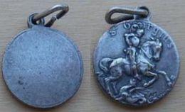 Med-3360 Médaille Ancienne Signée Mais Difficile à Lire - Religion & Esotericism