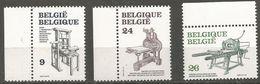 Belgium - 1988 Printing Presses Set Of 3  MNH **    Sc 1305-7 - Belgium