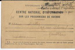 PRISONNIERS DE GUERRE - 1940 - CARTE REPONSE De DEMANDE De RENSEIGNEMENTS : STALAG IV B - Guerra De 1939-45