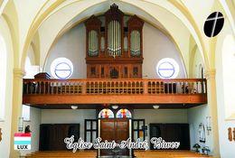 Carte Postale, Eglises, Orgues, Churches Of Europe, Luxembourg, Biwer, Église Saint-André - Kerken En Kathedralen