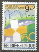 Belgium - 1987 Yellow-white Cross  MNH **    Sc B1068 - Belgium