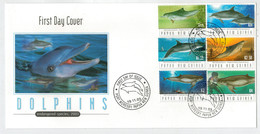 F.D.C.    DOLPHINS   ENDANGERED  SPECIES   2003 - Papua Nuova Guinea
