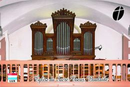 Carte Postale, Eglises, Orgues, Churches Of Europe, Luxembourg, Boulaide, Église Du Sacré-Coeur - Eglises Et Cathédrales