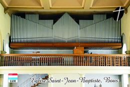 Carte Postale, Eglises, Orgues, Churches Of Europe, Luxembourg, Bous, Église Saint-Jean-Baptiste - Churches & Cathedrals