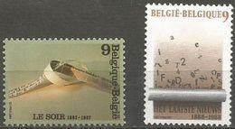 Belgium - 1987 Newspapers Set Of 2 MNH **    Sc 1281-2 - Belgium