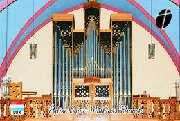 Carte Postale, Eglises, Orgues, Churches Of Europe, Luxembourg, Brouch, Église Saint-Mathias - Eglises Et Cathédrales