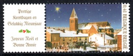 BELGIUM 2003 Christmas & New Year: Single Stamp + Label UM/MNH - Belgique