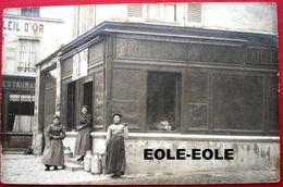 78 - Carte Photo - HOUILLES - Rue De Pontoise - Epicerie - Primeurs - Restaurant - Devanture - Hotel - Houilles