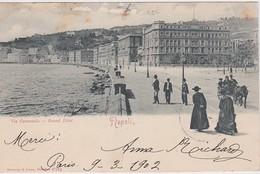 ITALIE 1902  CARTE POSTALE DE  NAPOLI VIA CARACCIOLO GRAND HOTEL - Napoli (Nepel)