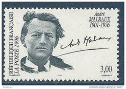 """Timbre France  YT 3038 """" André Malraux """" 1996 Neuf - Unused Stamps"""
