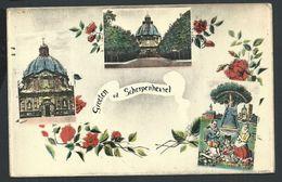 +++ CPA - Carte Fantaisie - Groeten Uit SCHERPENHEUVEL   // - Scherpenheuvel-Zichem