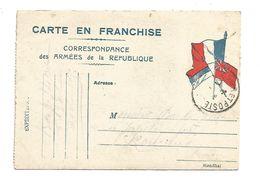 CARTE EN FRANCHISE ECRITE 1915 - Poststempel (Briefe)