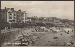 Promenade & Sands, Criccieth, Caernarvonshire, C.1940s - Photochrom RP Postcard - Caernarvonshire