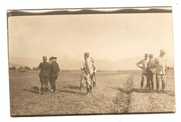 CARTE PHOTO MILITARIA GUERRE 1914 1918 CÉRÉMONIE MILITAIRE SABRE BAIONNETTE REVUE PRUSSE ALLEMAGNE FRANCE - Weltkrieg 1914-18