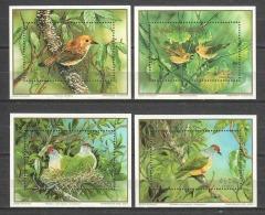 Cook Islands 1989 Mi Blocks 189-192 MNH WWF BIRDS - Unused Stamps