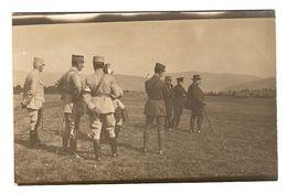 CARTE PHOTO MILITARIA GUERRE 1914 1918 CÉRÉMONIE MILITAIRE CIVIL SABRE BAIONNETTE REVUE PRUSSE ALLEMAGNE FRANCE - Weltkrieg 1914-18