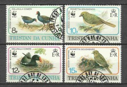 Tristan Da Cunha 1991 Mi 513-516 Canceled BIRDS (2) - W.W.F.