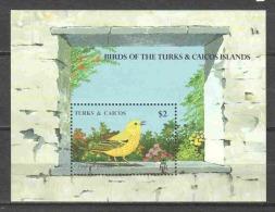 Turks & Caicos 1990 Mi Block 83 MNH BIRDS - Vogels