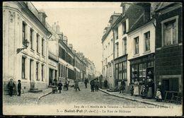 Cpa St Pol  Charcuterie épicerie Rue De Béthune, Animée - France