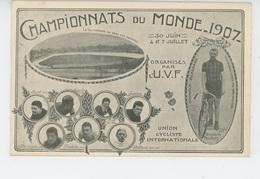 CYCLISME - CHAMPIONNATS DU MONDE 1907 - Vélodrome Du Parc Des Princes, Portrait De THOWALD ELLEGAARD Champion Du Monde - Wielrennen