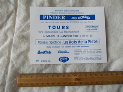 Invitation Au Cirque Pinder Jean Richard à Tours 19 Janvier 1999 - Biglietti D'ingresso